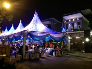 Canopy rental kluang malaysia premium occasion balloon decoration air conditioned canopy great pa systems in just one call yes we are now in kluang junglespirit